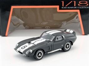 Shelby Cobra Daytona Coupe #8 year 1965 mat black / white 1:18 Lucky DieCast