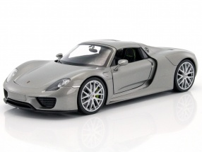 Porsche 918 Spyder year 2015 gray metallic 1:24 Welly