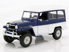 Willys Jeep Station Wagon year 1955 blue / white 1:18 Lucky DieCast