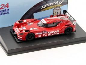 Nissan GT-R LM Nismo #22 24h LeMans 2015 Tincknell, Buncombe, Krumm 1:64 Spark