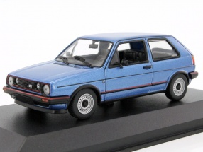 Volkswagen VW Golf II GTI year 1985 blue metallic 1:43 Minichamps