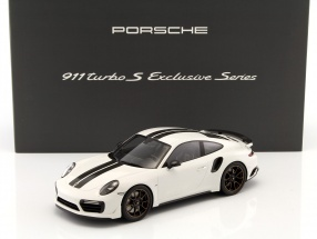Porsche 911 (991) Turbo S Exclusive Series white, black With Showcase 1:18 Spark