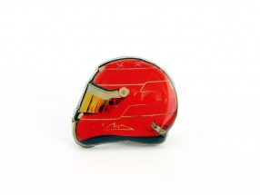 Michael Schumacher helmet pin formula 1 red