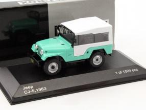 Jeep Cj-5 Baujahr 1963 hellgrün / weiß 1:43 WhiteBox