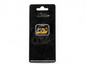Michael Schumacher Helm Pin 20th Anniversary Formel 1 2011 gold / schwarz