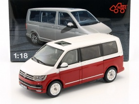 Volkswagen VW Multivan T6 Generation Six year 2017 red / white 1:18 NZG