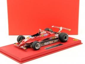 Didier Pironi Ferrari 126C2 #28 Long Beach US West GP Formel 1 1982 mit Vitrine 1:18 BBR