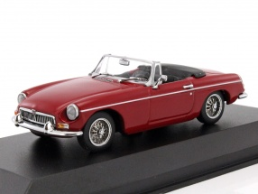 MGB Cabriolet year 1962 red metallic 1:43 Minichamps