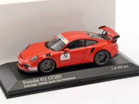 Porsche 911 (991) GT3 RS #16 Porsche Sports Cup Promo Car lava orange 1:43 Minichamps