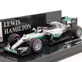 L. Hamilton Mercedes F1 W07 Hybrid #44 Halo Testing Singapur GP F1 2016 1:43 Minichamps