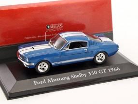 Ford Mustang Shelby 350 GT Baujahr 1966 blau metallic / weiß 1:43 Atlas