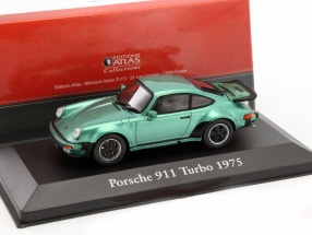 Porsche 911 Turbo Baujahr 1975 grün metallic 1:43 Atlas