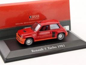 Renault 5 Turbo Baujahr 1981 rot / orange 1:43 Atlas