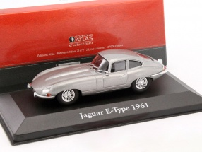 Jaguar E-Type Baujahr 1961 hellgrau metallic 1:43 Atlas