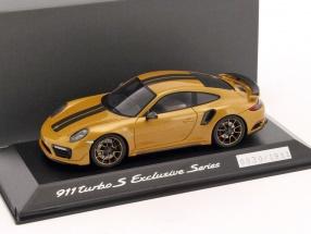 Porsche 911 (991) Turbo S gold metallic / schwarz 1:43 Spark