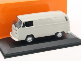 Volkswagen VW T2b Van year 1972 light gray 1:43 Minichamps