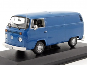 Volkswagen VW T2b Van year 1972 blue 1:43 Minichamps
