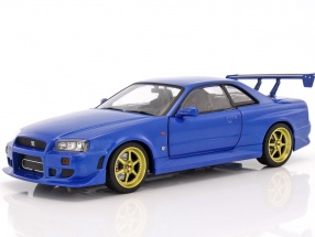Nissan Skyline GT-R (R34) year 1999 blue 1:18 Greenlight