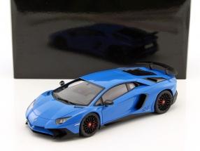 Lamborghini Aventador LP750-4 SV year 2015 blue 1:18 AUTOart