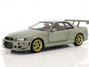 Nissan Skyline GT-R (R34) year 1999 jade green 1:18 Greenlight