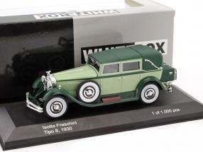 Isotta Fraschini Tipo 8 Baujahr 1930 dunkelgrün / hellgrün 1:43 WhiteBox