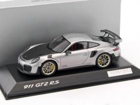 Porsche 911 (991 II) GT2 RS silber / schwarz 1:43 Spark