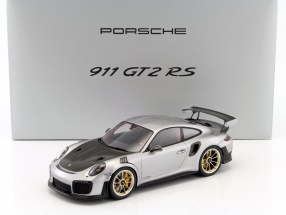 Porsche 911 (991 II) GT2 RS year 2017 silver / black with showcase 1:18 Spark