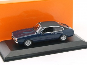 Ford Capri II year 1974 dark blue 1:43 Minichamps