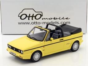 Volkswagen VW Golf I Cabriolet Young Line Baujahr 1991 jasmin gelb 1:18 OttOmobile