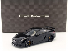 Porsche Cayman GT4 black with showcase 1:18 Spark