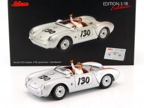 Porsche 550 A Spyder #130 Little Bastard mit James Dean Figur 1:18 Schuco