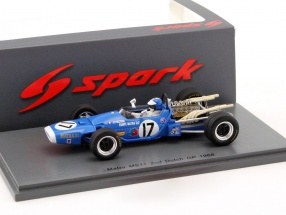Jean-Pierre Beltoise Matra MS11 #17 2nd Niederlande GP Formel 1 1968 1:43 Spark