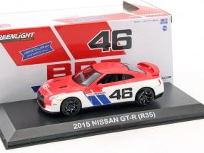 Nissan GT-R (R35) #46 orange / weiß 1:43 Greenlight