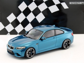 BMW M2 Coupe Baujahr 2016 blau metallic 1:18 Minichamps