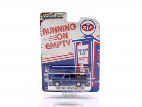 Ford F-100 with Bed Cover Baujahr 1969 STP blau 1:64 Greenlight