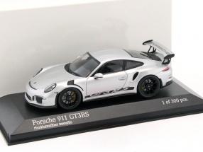 Porsche 911 (991) GT3 RS Baujahr 2014 rhodium silber metallic 1:43 Minichamps