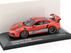 Porsche 911 (991) GT3 RS Porsche Sport Driving School Instructor 2014 java orange 1:43 Minichamps