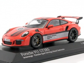 Porsche 911 (991) GT3 RS Porsche Sport Driving School Instructor 2014 lava orange 1:43 Minichamps