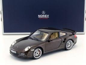 Porsche 911 (997) Turbo Baujahr 2010 braun metallic 1:18 Norev