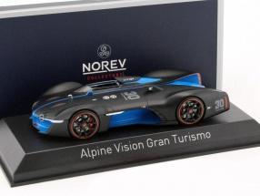 Alpine Vision Gran Turismo Baujahr 2015 matt schwarz / blau 1:43 Norev