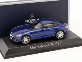 Mercedes AMG GTS Baujahr 2015 blau metallic 1:43 Norev