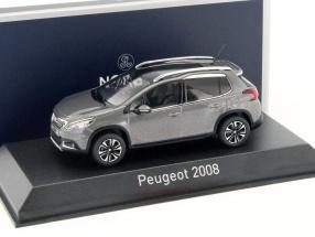 Peugeot 2008 Baujahr 2016 platinium grau 1:43 Norev