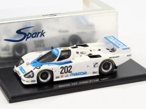 Mazda 757 #202 24h LeMans 1987 Dieudonne, Kennedy, Galvin 1:43 Spark