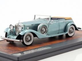 Rolls Royce Phantom Continental Hooper Tourer Baujahr 1934 blau metallic 1:43 Matrix