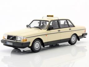 Volvo 240 GL taxi year 1986 beige 1:18 Minichamps