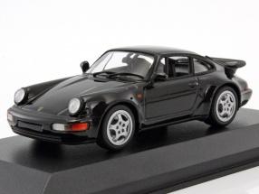 Porsche 911 (964) Turbo Construction year 1990 black 1:43 Minichamps