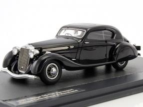 Delage D8-120 Aerosport Coupe Letourneur & Marchand year 1937 dark gray 1:43 Matrix