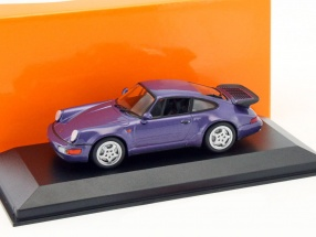 Porsche 911 (964) Turbo Baujahr 1990 lila metallic 1:43 Minichamps