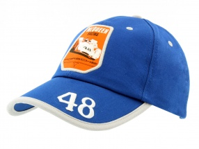 Porsche Cap Steve McQueen Racing #48 blau / silber / weiß / orange