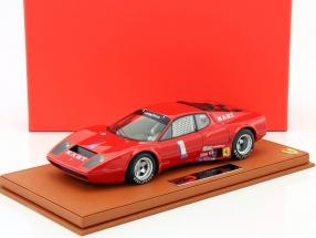 Ferrari 365 GT4 BB #1 24h Daytona 1975 Ballot-Lena, Cudini mit Vitrine 1:18 BBR
